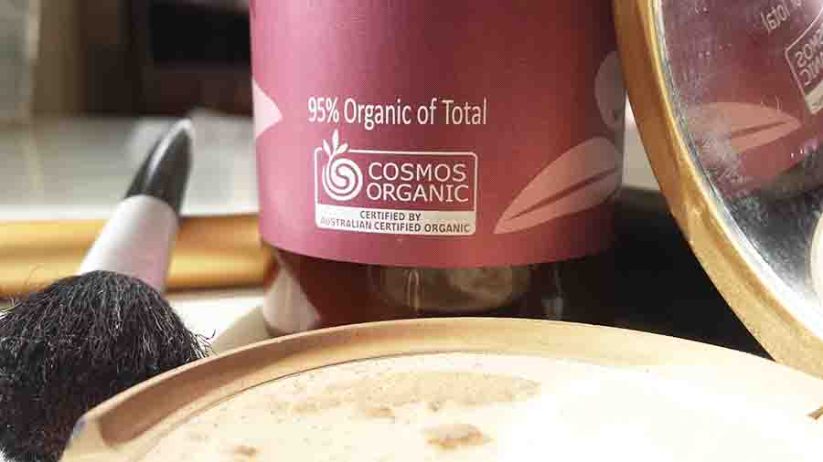 COSMOS logo on haircare