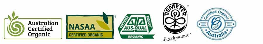 Certified organic logos prove they're true free range eggs